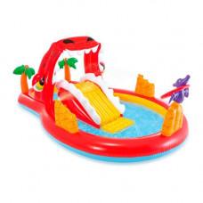 """Детский надувной игровой центр с горкой Intex 57163  """"Счастливый Динозавр"""""""