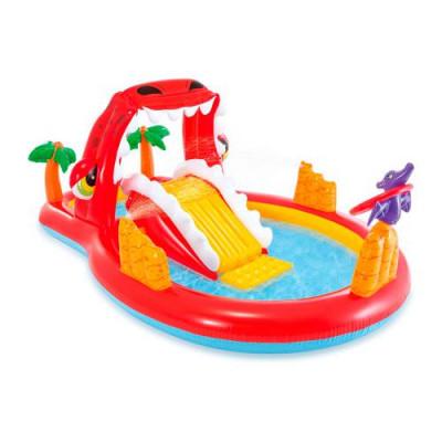 Детский надувной игровой центр с горкой Карамель Intex 57149