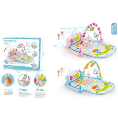 Развивающий коврик Пианино для малышей музыка, свет, игрушки (9913A)