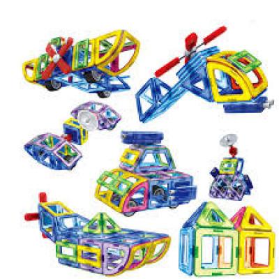Магнитный конструктор Цветные магниты Play Smart 54 детали (2429)