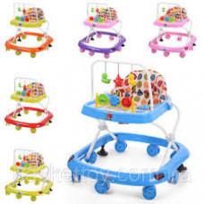 Детские ходунки с подвесными игрушками M 0541