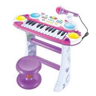 Детское пианино-синтезатор Joy Toy на ножках со стульчиком  (7235)