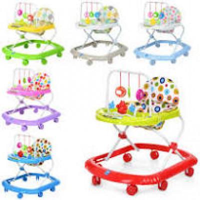 Детские ходунки с подвесными игрушками цвета в ассортименте (0591)