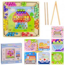"""Деревянная игрушка """"Мозаика"""", 8 шаблонов картинок, WD2313"""