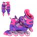 Детские раздвижные ролики Best Roller (34-37), фиолетовые, колеса PVC, переднее светится (40005)