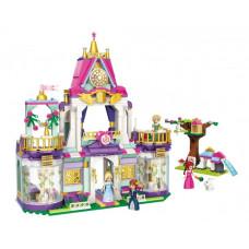 Конструктор Qman 2611 Princess Leah Замок принцессы, мебель, фигурки, 628 деталей
