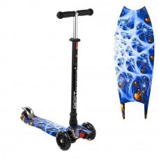 """Самокат """"Best Scooter"""" MAXI, 1505, черный с синим"""