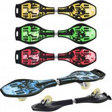Скейт-Рипстик MS 0016 Размеры 86-22 см, Две платформы, 38 см, 2 колеса PU 76 мм 4 цвета