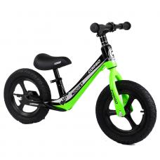 """Велобег Corso 14452 Зеленый, колесо 12"""" надувные, магниевая рама, магниевые диски, подножка"""