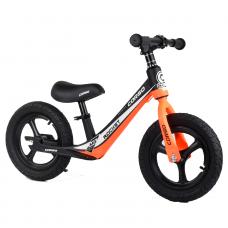"""Велобег Corso 25825 Оранжевый, колесо 12"""" надувные, магниевая рама, магниевые диски, подножка"""