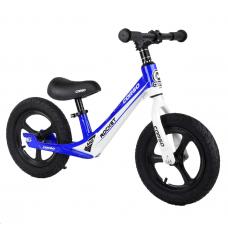 """Велобег Corso 91649, Синий, колесо 12"""" надувные, магниевая рама, магниевые диски, подножка"""