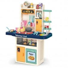 Кухня 97 см детская 74 детали, подсветка, звук, мелодии, идет пар, на батарейках (922-108)