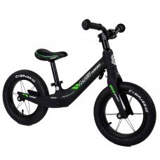 """Велобег Corso 55960 Черный, колесо 12"""", магниевая рама, алюминиевый вынос руля"""