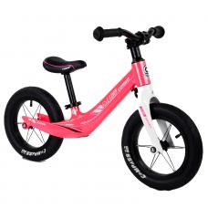 """Велобег Corso 45383 Розовый,  колесо 12"""", магниевая рама, алюминиевый вынос руля"""