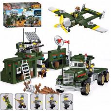 """Конструктор Qman 1713 """"Combat Zone"""", Военный передвижной пункт, 687 деталей"""