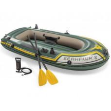 Надувная двухместная лодка 68347 Intex SeaHawk, 2 с веслами и насосом Intex