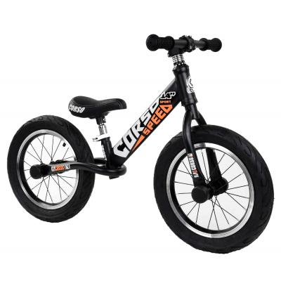 """Велобег 14"""" Corso Черный стальная рама, колеса надувные резиновые, алюминиевые диски, алюминиевый вынос руля (53047)"""