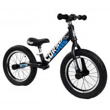 """Велобег 14"""" Corso 32839 Черный стальная рама, колеса надувные резиновые, алюминиевые диски, алюминиевый вынос руля"""