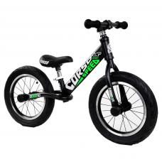 """Велобег 14"""" Corso 15322 Черный стальная рама, колеса надувные резиновые, алюминиевые диски, алюминиевый вынос руля"""