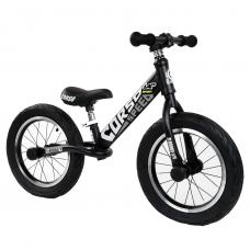 """Велобег 14"""" Corso 65474 Черный стальная рама, колеса надувные резиновые, алюминиевые диски, алюминиевый вынос руля"""