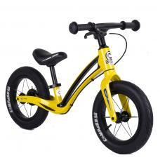 """Велобег Corso """"Prime C7"""" 50457 Желто-черный, колесо 12"""", магниевая рама, задний ручной тормоз"""