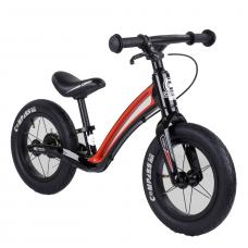 """Велобег Corso """"Prime C7"""" 25303 Черно-красный, колесо 12"""", магниевая рама, задний ручной тормоз"""
