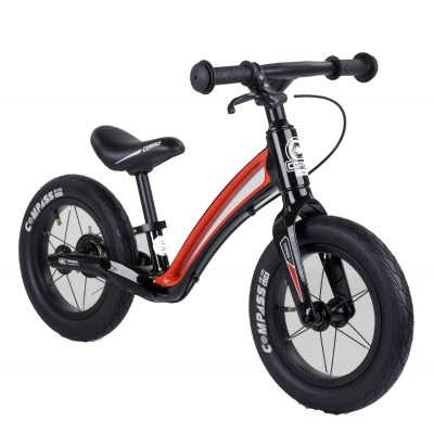 """Велобег Corso """"Prime C7"""" 25303 (Черно-красный), колесо 12"""", магниевая рама, задний ручной тормоз"""