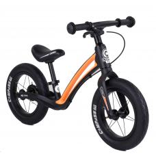 """Велобег Corso """"Prime C7"""" 84209 Черно-оранжевый, колесо 12"""", магниевая рама, задний ручной тормоз"""