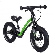 """Велобег Corso """"Prime C7"""" 92197 Черно-зеленый, колесо 12"""", магниевая рама, задний ручной тормоз"""