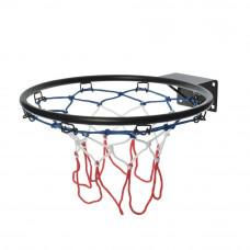 Детское металлическое баскетбольное кольцо с сеткой, M 5965, диаметр 32 см