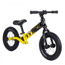 """Велобег Corso """"Skip Jack"""" 84115 Черно-желтый, колесо 12"""", алюминиевая рама, амортизатор"""