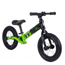 """Велобег Corso """"Skip Jack"""" 95112 Черно-зеленый, колесо 12"""", алюминиевая рама, амортизатор"""