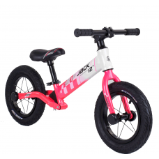 "Велобег Corso ""Skip Jack"" 25025 Розово-белый, колесо 12"", алюминиевая рама, амортизатор"