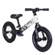"""Велобег Corso """"Skip Jack"""" 11057 Черно-белый, колесо 12"""", алюминиевая рама, амортизатор"""