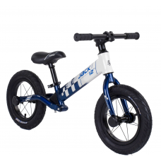 "Велобег Corso ""Skip Jack"" 93307 Сине-белый, колесо 12"", алюминиевая рама, амортизатор"