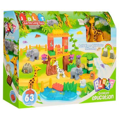 Детский конструктор JDLT Зоопарк 63 детали (5021)