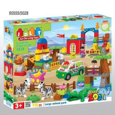 Детский конструктор JDLT Зоопарк 116 деталей (5028)