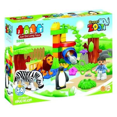 Детский развивающий конструктор JDLT Зоопарк 36 деталей (5088)