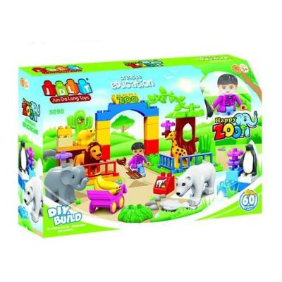 Детский конструктор JDLT Зоопарк 60 деталей (5090)