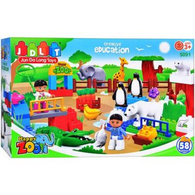 Детский конструктор JDLT Зоопарк 58 деталей (5091)