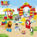 Детский развивающий конструктор JDLT Зоопарк 72 детали (5093)