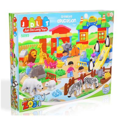 Детский конструктор JDLT Зоопарк 120 деталей (5095)