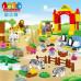 Детский конструктор JDLT Зоопарк 115 деталей крупные детали (5096)