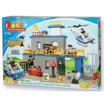 Детский развивающий конструктор JDLT Полицейский участок 92 детали (5136)