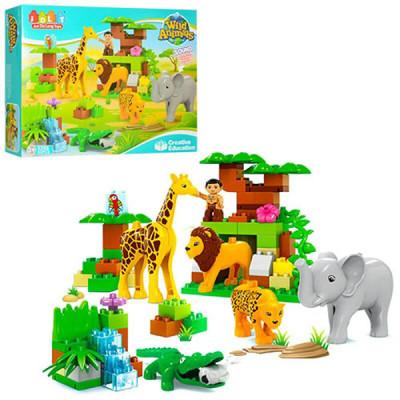 Конструктор JDLT Зоопарк с африканскими животными (83 детали)