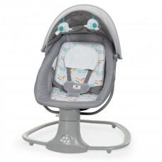 Заколисуючий центр, гойдалка-шезлонг для новонароджених з москітною сіткою Mastela light grey, колір сірий