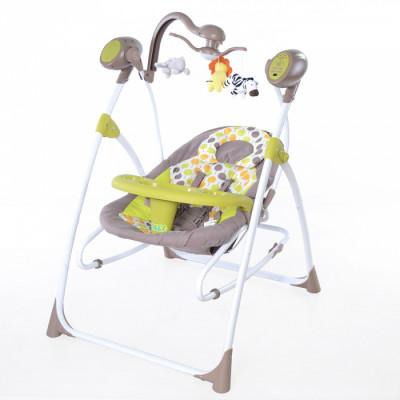 Детское кресло-качалка TILLY Nanny 3в1 BT-SC-0005 Green с пультом