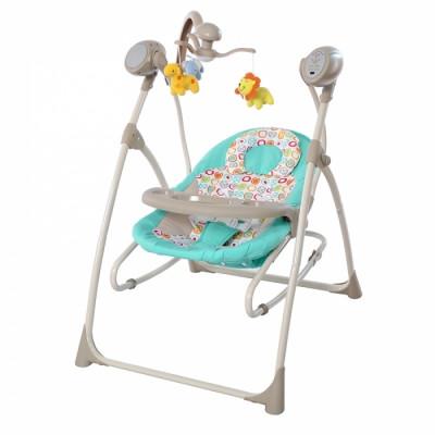 Детское кресло-качалка TILLY Nanny 3в1 BT-SC-0005 Turquoise с пультом