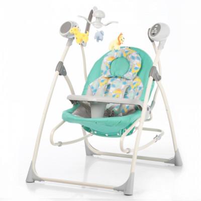 Детское кресло-качалка CARRELLO Nanny 3в1 CRL-0005 Grey Dino
