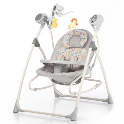 Детское кресло-качалка CARRELLO Nanny 3в1 CRL-0005 Grey Planet